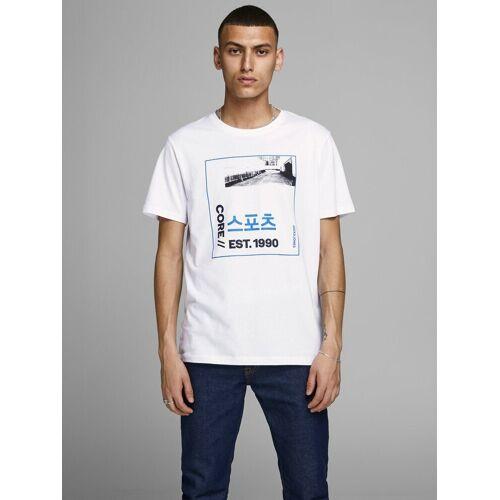 Jack & Jones Chinesische Schriftzeichen Print T-Shirt, White