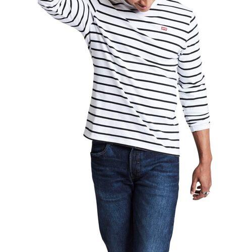 Levi's® Langarmshirt mit Streifen, weiß-blau