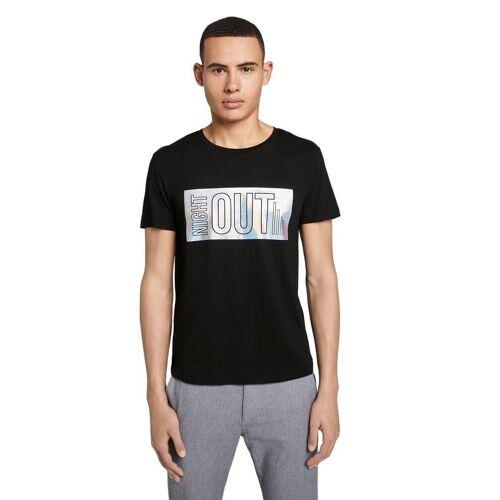 TOM TAILOR Denim T-Shirt mit Hologramm-Print