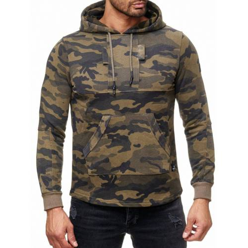 Rusty Neal Pullover im Military-Look, Military