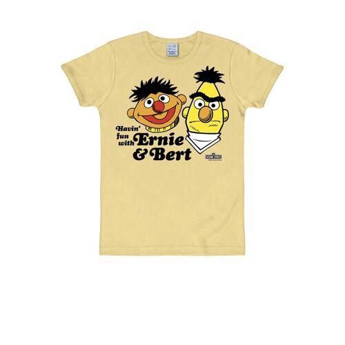 LOGOSHIRT T-Shirt mit witzigem Print »Ernie und Bert«, beige