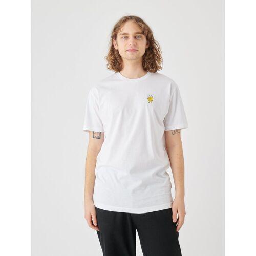 Cleptomanicx T-Shirt »Zitrone« Zitrone-Stickerei auf der Brust, weiß