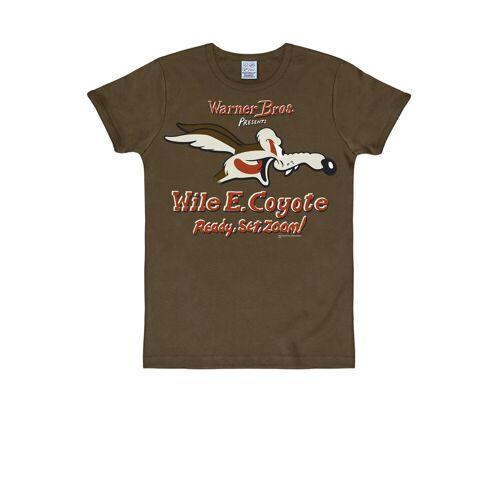 LOGOSHIRT T-Shirt mit Coyote-Print »Coyote Looney Tunes«, braun