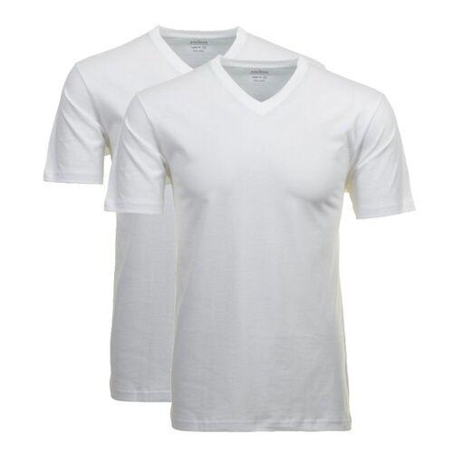 RAGMAN Unterhemd »Herren T-Shirt 2er Pack - 1/2 Arm, Unterhemd,«, Weiß