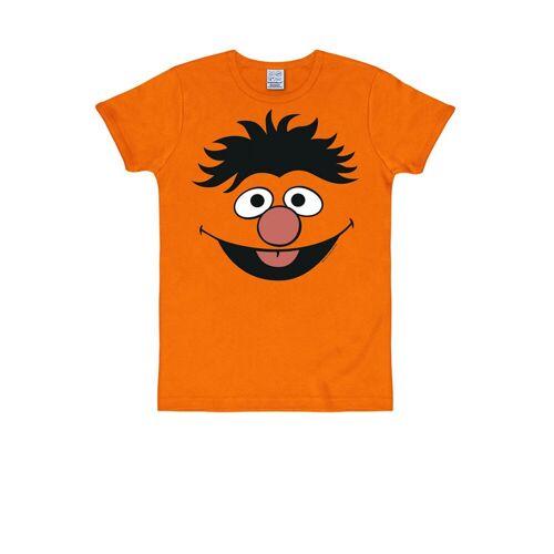 LOGOSHIRT T-Shirt mit witzigem Motiv »Ernie«, orange
