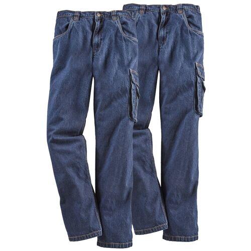 Arbeitshose »Jeans Worker 2er Set« (2-tlg) mit dehnbarem Bund