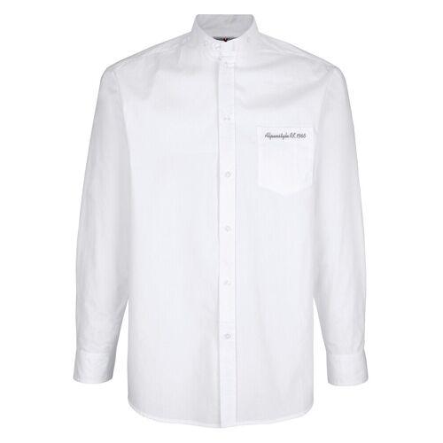 Roger Kent Hemd mit Stehkragen, Weiß