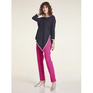 heine TIMELESS Pullover mit kontrastfarbenen Glanzdetails mit kontrastfarbenen Glanzdetails mit kontrastfarbenen Glanzdetails, nachtblau