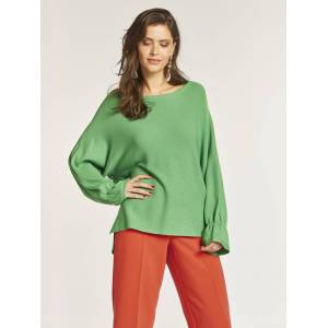 heine Pullover mit gerafftem Bündchen, grasgrün
