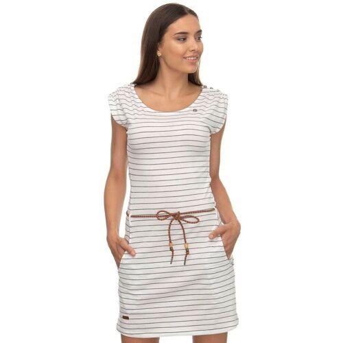 Ragwear Shirtkleid »CHEGO« (2-tlg., mit Bindegürtel) im maritimen Streifen-Design, white 7000