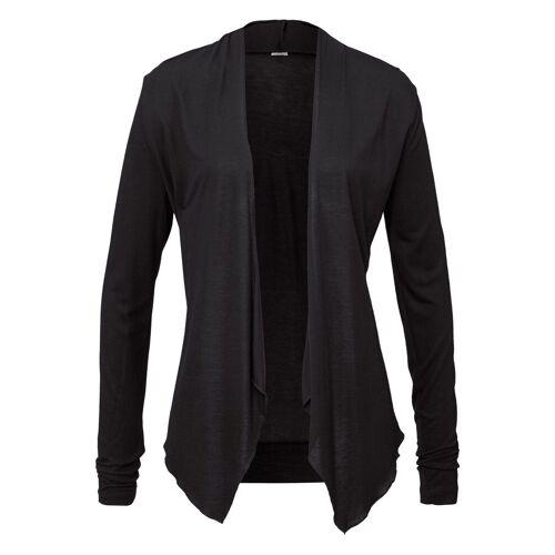 LASCANA Shirtjacke in offener Form, schwarz