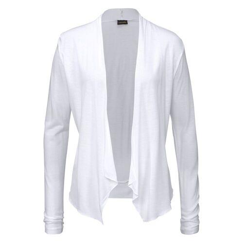 LASCANA Shirtjacke in offener Form, weiß