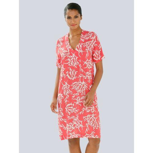 Alba Moda Tunika-Kleid mit Korallendruck, Koralle