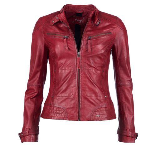 Maze Lederjacke mit zwei Brusttaschen »Ryana«, red