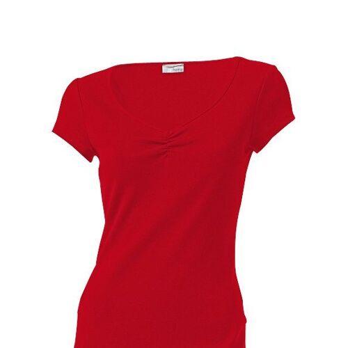 heine CASUAL Shirtkleid mit Raffung am Ausschnitt, rot