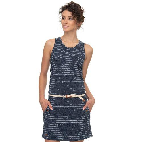 Ragwear Shirtkleid »KESY« (mit Gürtel) mit maritimen Anker-Herz Allover Druck