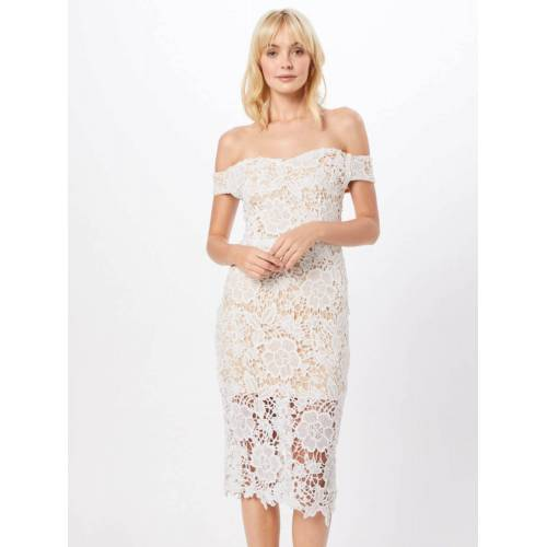 Missguided Spitzenkleid »Bardot Lace Midi Dress« Spitze