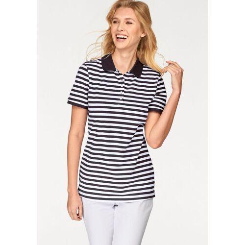 Cheer Poloshirt uni farben oder gestreift, navy-weiß-gestreift