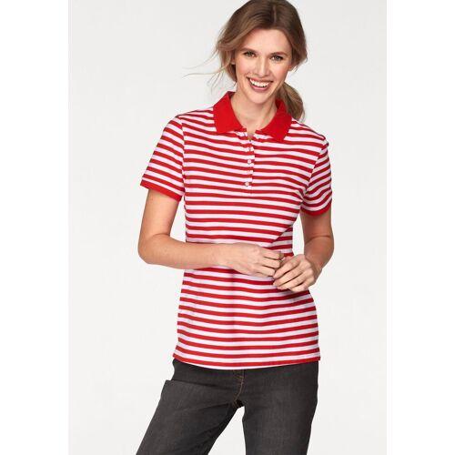 Cheer Poloshirt uni farben oder gestreift, rot-weiß-gestreift