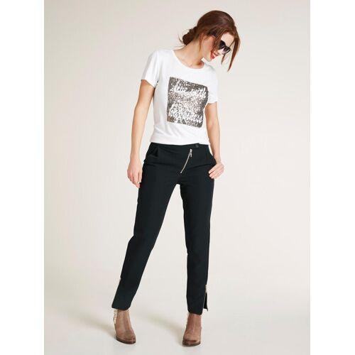 heine CASUAL T-Shirt mit Pailetten, weiß