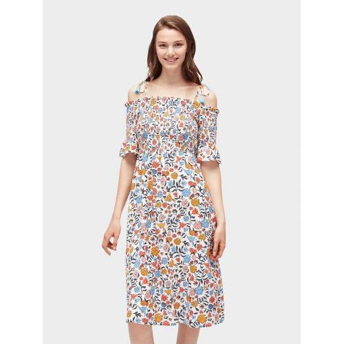 TOM TAILOR Denim Sommerkleid »Midikleid mit floralem Muster«