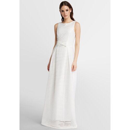 Apart Visuell gestreiftes Hochzeitskleid, creme