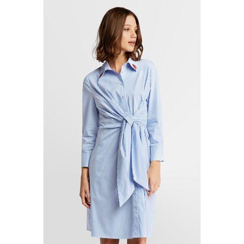 Apart Sommerkleid, hellblau-weiß