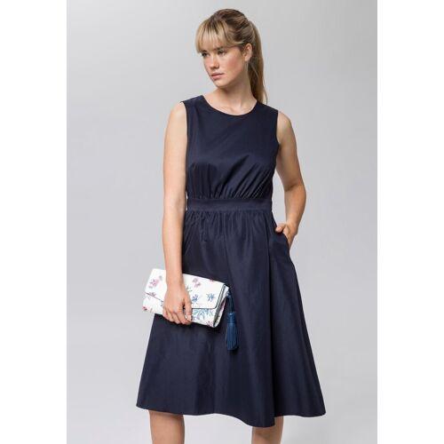 Esprit Collection Abendkleid mit raffiniertem Spitzeneinsatz am Rücken, dunkelblau