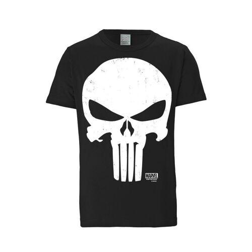 LOGOSHIRT T-Shirt mit coolem Punisher-Schädel »Punisher - Marvel«, schwarz