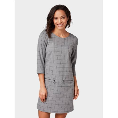TOM TAILOR Shirtkleid »Kleid mit Karomuster«, grey