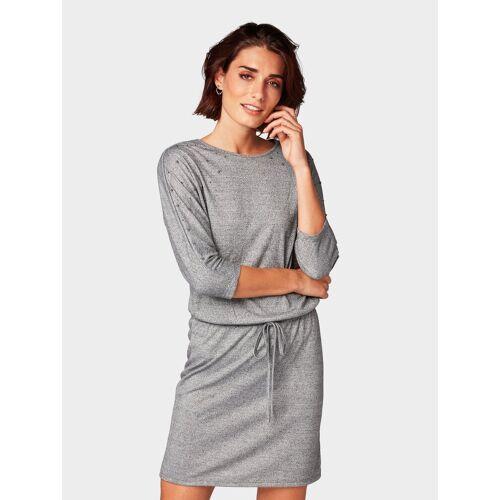 TOM TAILOR Shirtkleid »Kleid mit Perlen«, grau
