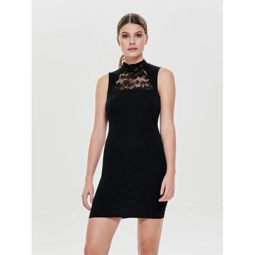 Only Rollkragen Kleid ohne Ärmel, Black