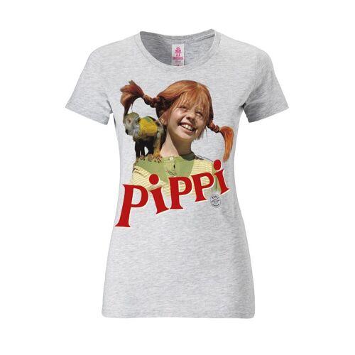 LOGOSHIRT T-Shirt mit Pippi Langstrumpf-Print »Pippi Langstrumpf - Äffchen Herr Nilsson«, grau meliert