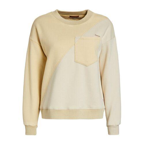 khujo Sweatshirt »TAKIYA« im zweifarbigen Design, gelb