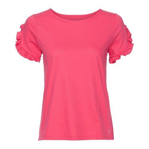 IN LINEA T-Shirt mit Rüschen, Melone