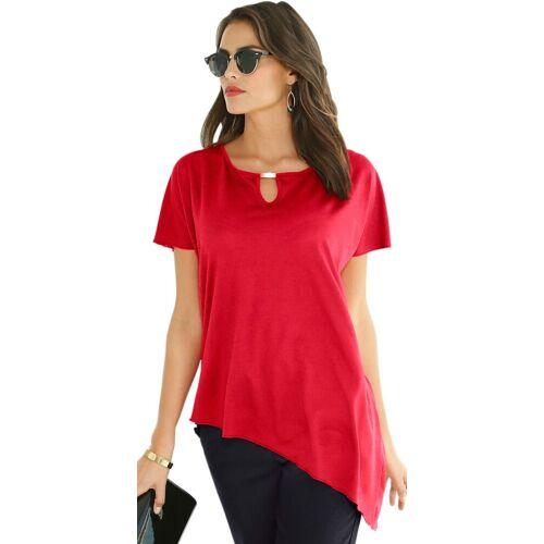 Lady Shirt mit asymmetrischem Saum, rot