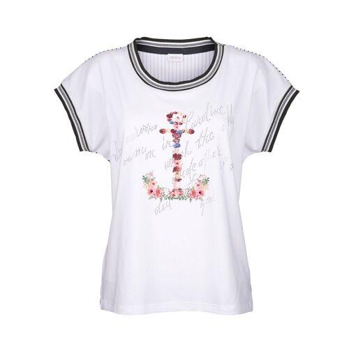 Mona Shirt mit Ankermotiv, Weiß