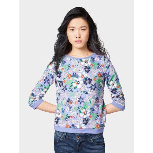 TOM TAILOR Denim Sweatshirt »Sweatshirt mit Blumenmuster«, lavender