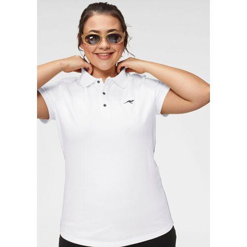 KangaROOS Poloshirt Große Größen, weiß