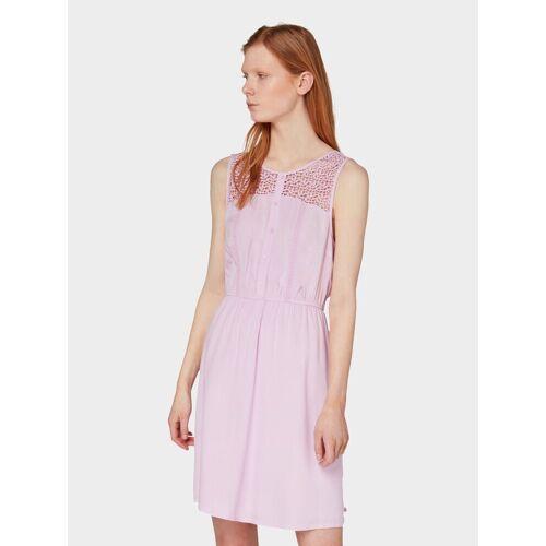 TOM TAILOR Denim Spitzenkleid »Kleid mit Spitze«, rosé