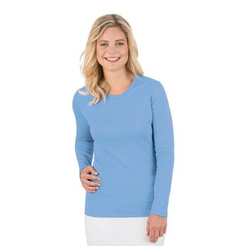 Trigema Langarmshirt, ice-blue