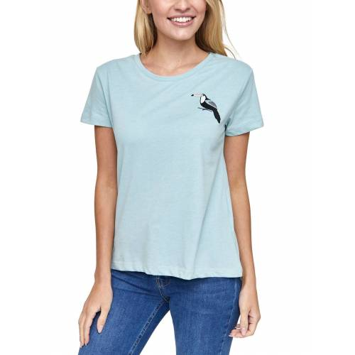 MAZINE T-Shirt aus veganen Materialien »Dixie«, light blue mel