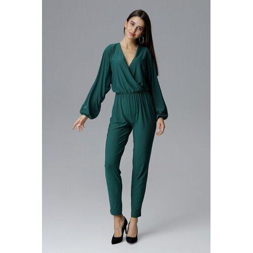 FIGL Jumpsuit mit langem Arm und langem Bein, Green