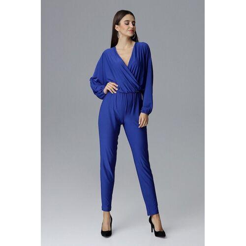 FIGL Jumpsuit mit langem Arm und langem Bein, Sapphire