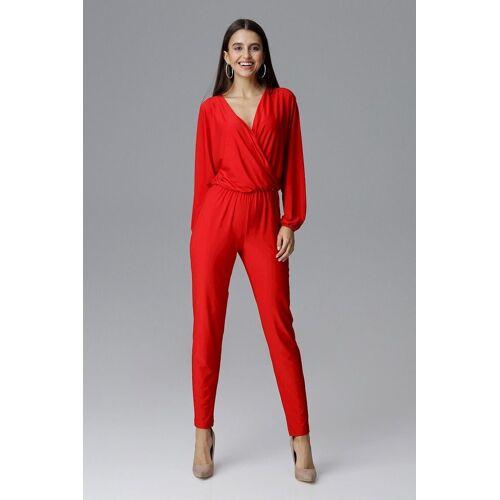 FIGL Jumpsuit mit langem Arm und langem Bein, Red