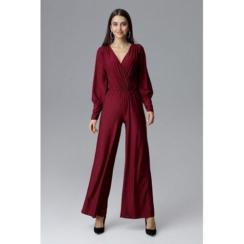 FIGL Jumpsuit in elegantem Design, Deep Red