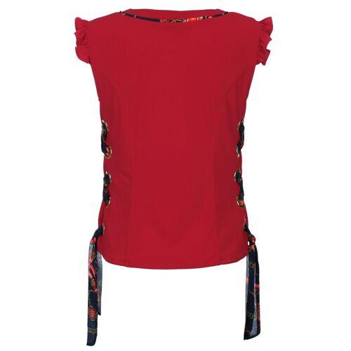 Alba Moda Strandtop mit Schleifenbändern, Rot