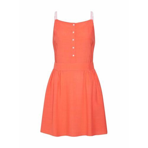 Calvin Klein Sommerkleid »LOGO STRAP«, koralle