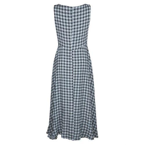 Alba Moda Kleid in figurumspielender Maxi-Länge, Off-white