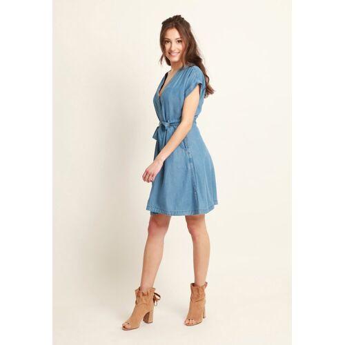 Mavi Jeanskleid »SHORT SLEEVE DRESS« Jeanskleid, blau